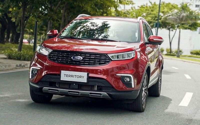 Ford Territory titanium màu đỏ