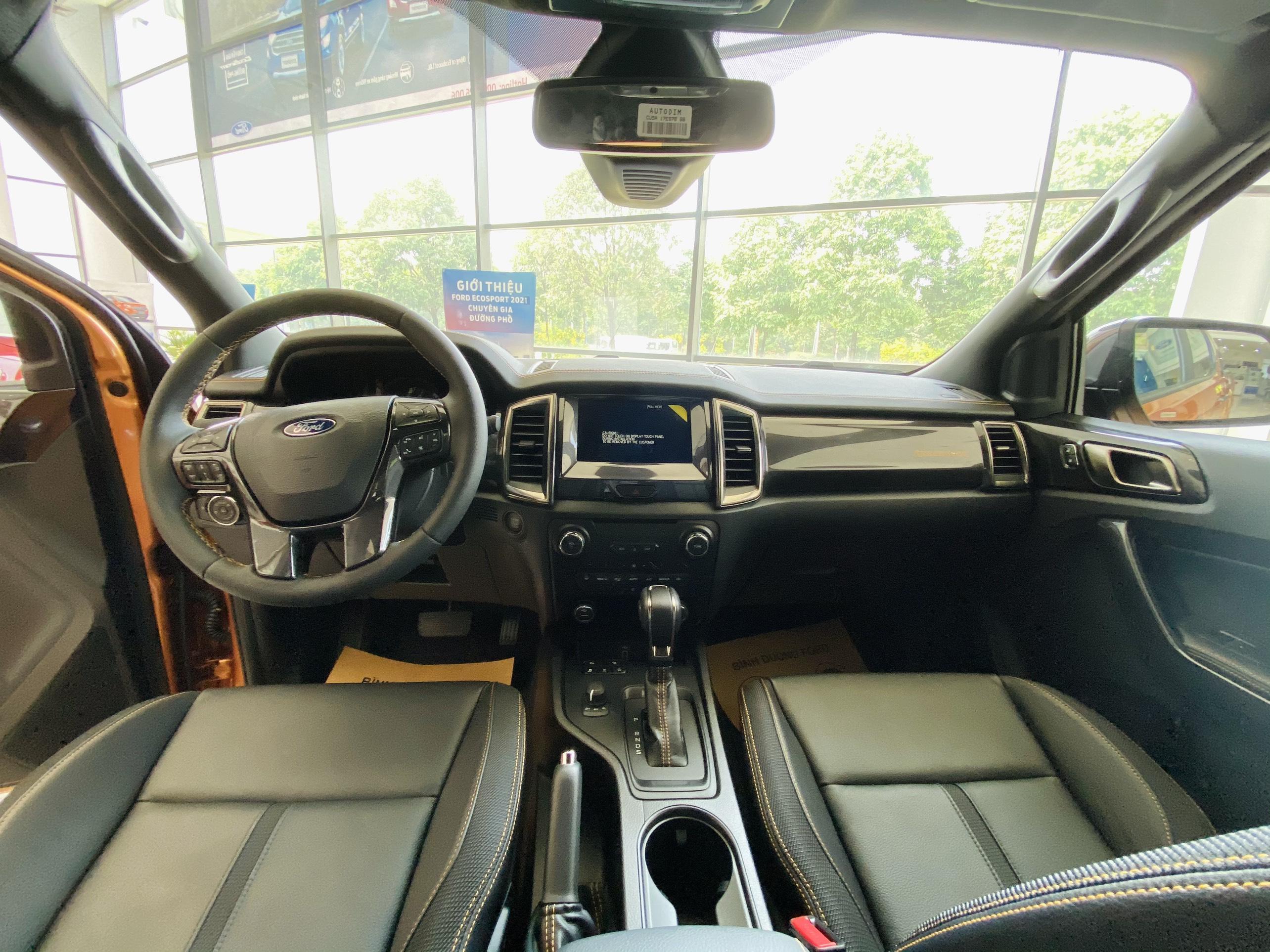 nội thất Ford Ranger wildtrak 2021